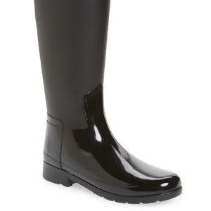 Hunter Refined Gloss Tall Waterproof Rain Boot 9M